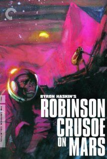 """""""Robinson Crusoe on Mars.""""  Stranded on Mars with only a monkey as a companion, an astronaut must figure out how to find oxygen, water, and food on the lifeless planet."""