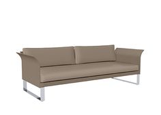 SIFAS in-outdoor living furniture : Collection KOMFY (canapé 3 places avec coussins d'assise-dossier / 3-seater incl. seat & back cushions) 75x200 cm