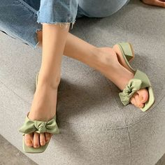 Korean Shoes, Korean Sandals, Ankle Strap Heels, Shoes Heels, Sneakers Fashion, Fashion Shoes, Fashion Slippers, Stylish Sandals, Aesthetic Shoes