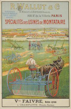 Machines agricoles R. Wallut et Cie, vers 1920.