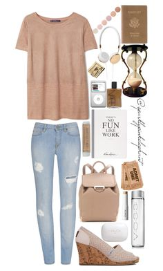 """""""There's No Fun Like Traveling"""" by sparklypinkelephant ❤ liked on Polyvore featuring H2O+, TOMS, Violeta by Mango, Alexander Wang, Selfridges, NARS Cosmetics, shu uemura, Royce Leather, Deborah Lippmann and travel"""