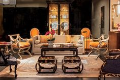 Pieces from Brunsons collection, displayed at the Thomas Lavin showroom in Los Angeles. Photo: Grey Crawford