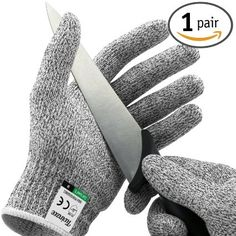 Twinzee Cut Resistant Kitchen Gloves - High Performance Level 5 Protection, Food…