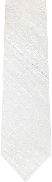 Natural White Light Slubs Thai Rough Silk Tie #13