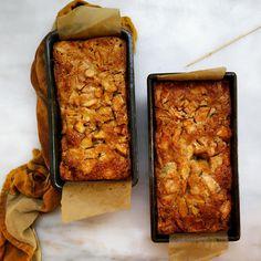 apple sheet cake becomes apple loaves - recipe at:  http://www.jessiesheehanbakes.com/2014/10/15/apple-sheet-cake/