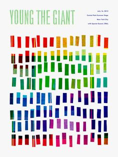 Young The Giant poster by Scott Campbell // #graphicDesign