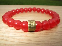 Mens RUBY Bracelet Men's Jewelry Passion and от BohemianChicbead