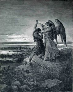 Jacob Wrestling with the Angel, 1866  Gustave Dore