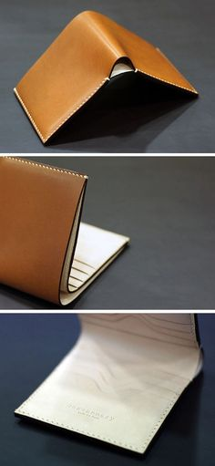 Handmade leather Wallet Billfold Credit card case by dextannery-SR