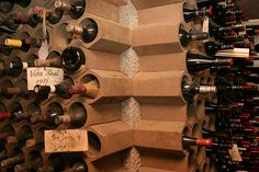 30 Creative and Unique Wine Storage Ideas For Your Home Cool Wine Racks, Unique Wine Racks, Wine Rack Storage, Kitchen Cabinet Wine Rack, Wine Cabinets, Traditional Wine Racks, Wine Rack Design, Recycled Wine Corks, Wine Shelves