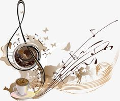 Vector coffee notes, Coffee, Note, Music PNG and Vector Good Morning Coffee, Coffee Break, Coffee Music, Coffee Vector, Music Drawings, Creative Coffee, Coffee Painting, Coffee Cafe, Coffee Quotes