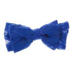 Blue Lace Bow Hair Clip -3.50 euros