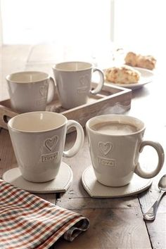 Set Of 4 Love Mugs from Next