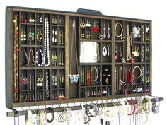 Wall hanging Jewelry Holder Display  by BlackForestCottage on Etsy  $158.00