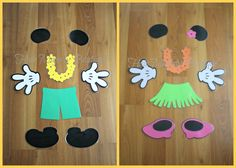 Beach+Mickey+and+Minnie+Body+Part+Magnet+by+HairMajestyBoutique,+$27.00