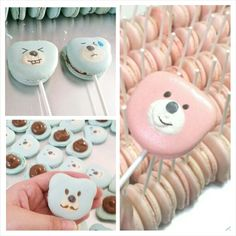 170 pcs of bear Macarons is no easy feat!!!  Pink : Classic Vanilla Blue : Dark Chocolate