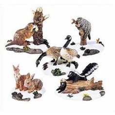 "Department Product Search Results - ""Woodland Wildlife Animals"" Small Want this one too! Polaroid, Mini Gardens, Mill Creek, Department 56, Xmas, Christmas, Wild Animals, Display Ideas, Villas"