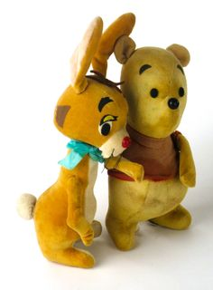 Two Adorable Vintage 1964 Winnie The Pooh by Pleasuremerchants