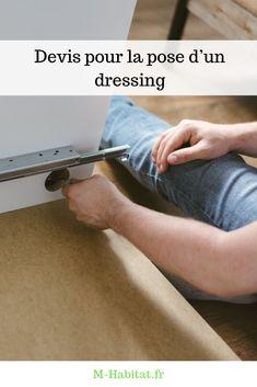 Devis pour la #pose d'un #dressing : nos conseils et recommandations afin d'obtenir le meilleur rapport qualité-prix.