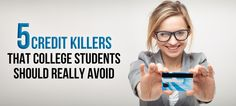Too many credit cards, maxing out your credit cards and excessive student loan debt can kill your credit score. #college #credit #finance