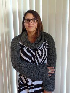 #Crochet Easy Long Sleeve Infinity Scarf Bolero #TUTORIAL
