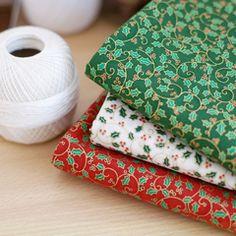 韩国进口/DIY棉布/手工拼布布料/圣诞布3色可选 1/4码 hy215