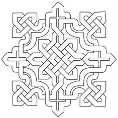 Arabesque Islamic Design Pictures 1 – Deanna M. Islamic Art Pattern, Arabic Pattern, Pattern Art, Pattern Cutting, Celtic Symbols, Celtic Art, Celtic Knots, Geometric Designs, Geometric Art