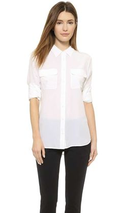 Slim Signature Blouse $218 #citycasual #theaugustdiaries