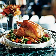 Roasted Turkey with  Tangerine Glaze | The tangerine, brown sugar and sage glaze on this gorgeous turkey gives it a rich, burnished color when it comes out of the oven.