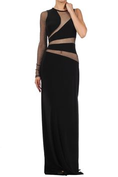 Red Carpet Dress- Single Shoulder Cut Out Gown in Black/Silver Rent Prom Dresses, Matric Dance Dresses, Shoulder Cut, Red Carpet Dresses, Golden Globes, Sewing Ideas, Black Silver, Awards, Fashion Dresses