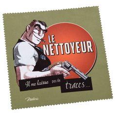Chiffonnette LE NETTOYEUR Natives déco rétro vintage humoristique - Provence Arômes Tendance sud