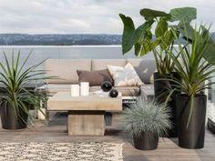 Slik planter du i krukkene Outdoor Sectional, Sectional Sofa, Outdoor Furniture Sets, Outdoor Decor, Slik, Planters, Design, Home Decor, Patio