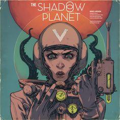 """Omaggio di Matteo De Longis per """"The Shadow Planet"""", progetto Radium in crowdfunding. #scifi #comics #character #crowdfunding"""