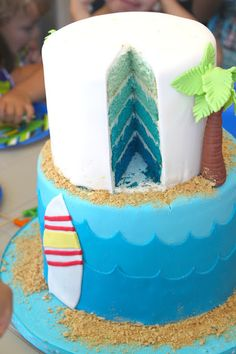 Surf and Sand Birthday Cake - The Little Epicurean