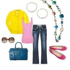 So simple to pull off...so incredibly cute!  See how easy bringing your wardrobe from blah to fab can be using Premier Designs Jewelry can be!?!! Message Leslie Trotter at Positivelylj@gmail.com Codeword: LJ Pinterest on how to get your very own FREE JEWELRY!