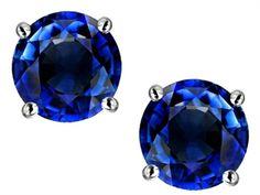 Original Star K(tm) Round 7mm Created Sapphire Earrings Studs - http://www.finejewelers.com/jewelry/Lab-Created-Sapphire/Earrings/302264.aspx