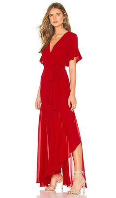 89abf63cad Privacy Please Velvet Red Long Gown Jupiter Dress size S NWT #fashion  #clothing #