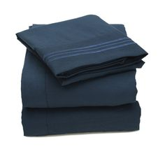 Amazon.com - Sweet Home Collection 1500 Supreme Collection 4 Piece Bed Sheet Set Deep Pocket, Full, Gray - Pillowcase And Sheet Sets