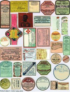 vintage ephemera #labels