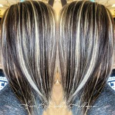 Day & Night Hair Color Soft Dark Brown With Cream Soda Blonde Highlights  Joico Hair Salon