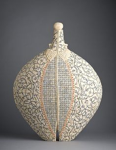 artist Avital Sheffer Mishmarot I Hand formed, glazed and printed, multiple fired earthenware clay