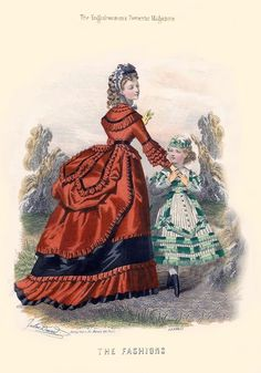 A lovely little girl's dress from The Englishwoman's Domestic Magazine, 1869.