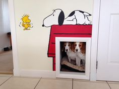 Beagle hang out under the stairs :) I wish we could put something like this in our house for our 3 beagles.