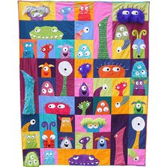 Wendi Gratz: Monsters! The Scary Squares Quilt!
