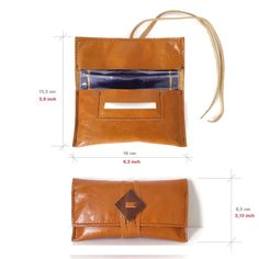 Leather Tobacco Pouch. Leather Tobacco Case. Rolling tobacco