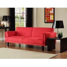 Find the Metro Futon Sofabed in Black for an everyday low price at Walmart.com--cool red color--$179..way cheaper then an actual sofa