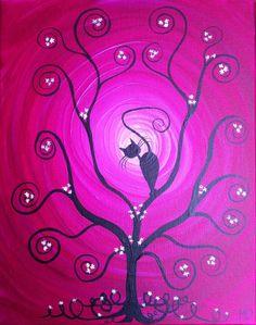 Original Whimsical Acrylic PaintingIn My Tree   by MichaelHProsper, $39.00