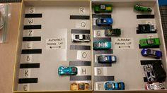 Letter Car Parking Lot Match Parking Lot, Car Parking, Alphabet, Photo Wall, Kid, Activities, Lettering, Education, Cars