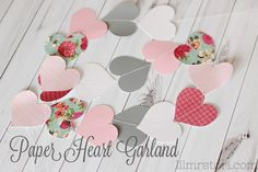 How to Make Your Own Heart Paper Garland + Template - Tori Grant Designs