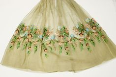 """theclothingproject: """"Collection's Highlight: Wedding Reception Dress Detailed pictures of this gown's embroidery are some of the most popular photos on the Clothing Project tumblr account. It is easy..."""